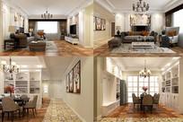 简美风格室内装修全套3D模型