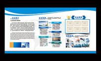 蓝色大气通用企业文化墙