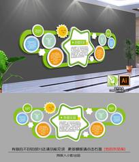 绿色企业照片墙幼儿园形象墙