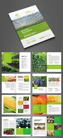 清新绿色观光农业画册模板