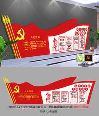社区建党党支部文化墙展板