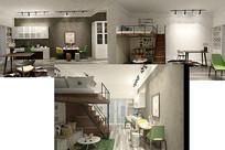 时尚小公寓装饰设计3D模型