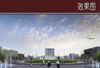 行政中心中央绿地效果图