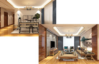 新中式客厅茶室装饰设计素材