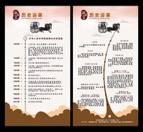 中国风企业发展历程大事记展板