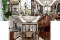 中式室内装修设计3D效果模型