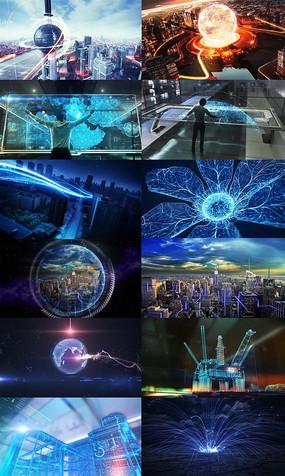 大数据互联网城市光线未来科技视频
