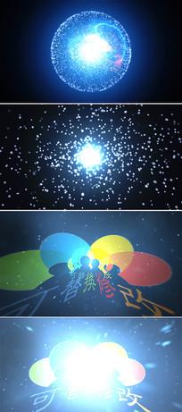 光电能量闪电球标志片头模板