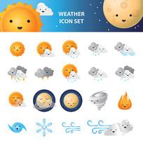 国外精美矢量天气预报说明图标