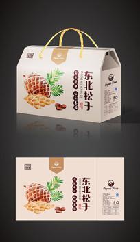 美味东北松子特产礼盒包装设计