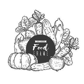 蔬菜手绘插画