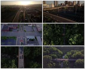航拍城市视频素材