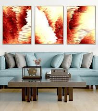 抽象三联装饰画