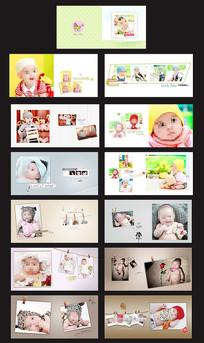 宝宝成长相册设计 PSD