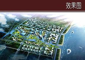 滨水区城市景观效果图
