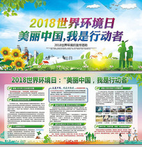 大气2018世界环境日宣传栏