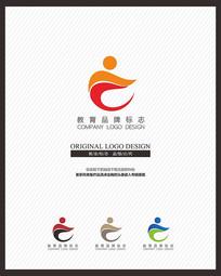 儿童教育培训招生机构企业标志