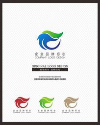 蓝色IT网络企业服务标志