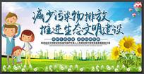 蓝色保护生态环境建设展板