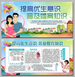 蓝色计划生育宣传展板设计