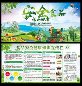 食品安全绿色健康宣传展板设计