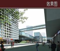 现代网格建筑透视图 JPG