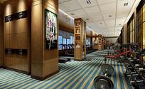 运动健身房室内设计 JPG
