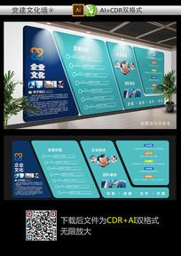 时尚大气企业文化墙设计模板
