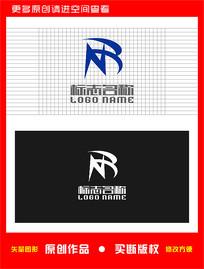 NR字母BR标志科技logo