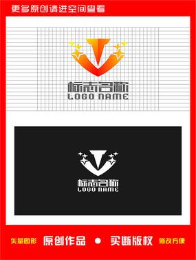 TV字母VT标志娱乐logo