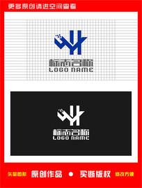 WH字母HW科技地产标志