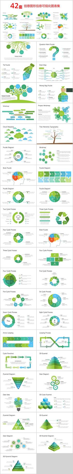 创意图形信息PPT图表 pptx