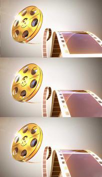 金色电影胶卷背景视频素材