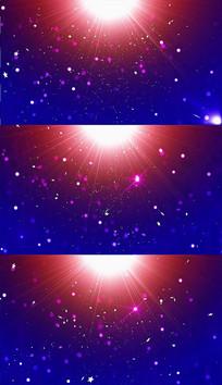蓝色粒子光芒背景视频素材