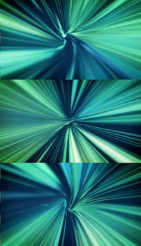 绿色隧道穿梭背景视频素材