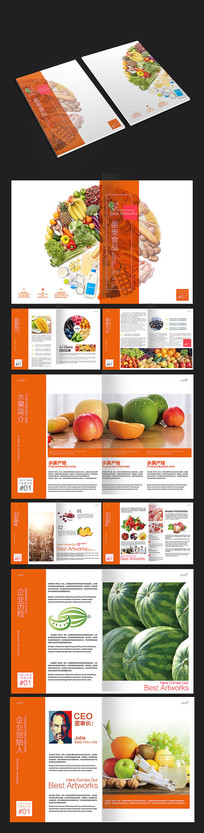 水果食品画册