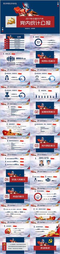 中国共产党党内统计公报PPT