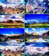 青藏高原舞台背景视频