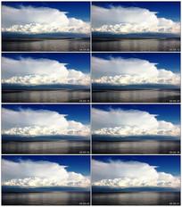 河边蓝天白云实拍视频素材