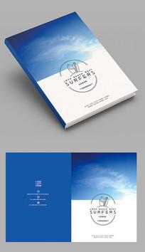 蓝色商务品牌画册封面