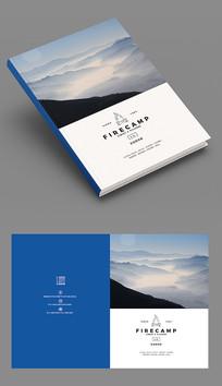 蓝色山水企业宣传册封面