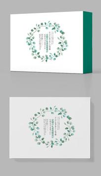 绿色森系茶叶礼盒包装设计