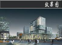 某国际金融创意园中心区效果