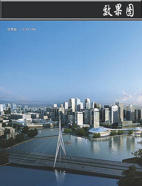 某综合试验区城市建筑透视