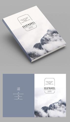 商务版工设计企业宣传画册封面