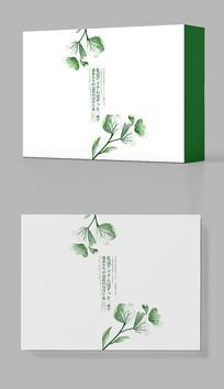水墨绿色花卉包装盒设计