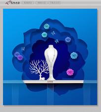 珠宝首饰橱窗展示设计图 PSD