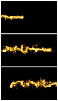 带通道粒子光线视频素材