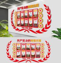 红色十九大党的历程党建文化墙