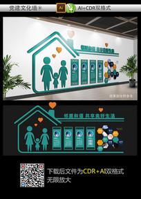 邻里和谐社区文化墙设计
